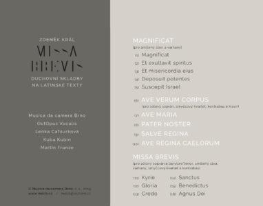 CD MISSA BREVIS | Ukázky